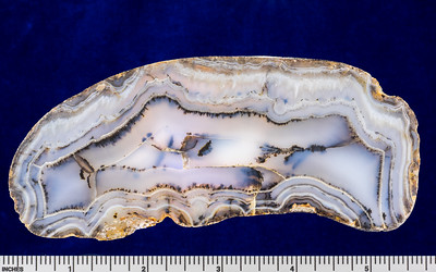 Agate (variety Balmorhea Blue), Reeves County, Texas
