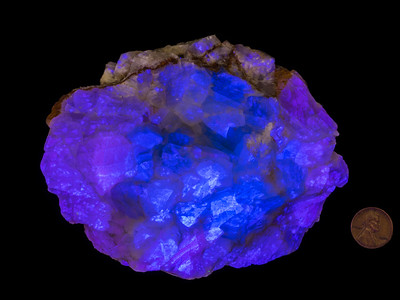 Calcite (Fluorescent), Brewster County, Texas
