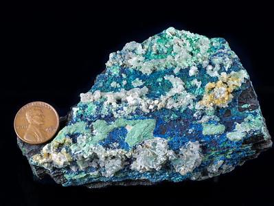 Azurite and Malachite (Copper Ore), Hardeman County, Texas