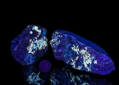 Scheelite Fluorescence, Hudspeth County, Texas
