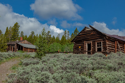 Saloon and Bryant Cabin, Town of Miner's Delight (Hamilton City), South Pass Area, Wyoming