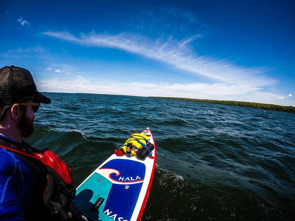 Back to open water paddling. Now getting 2-3+ foot waves