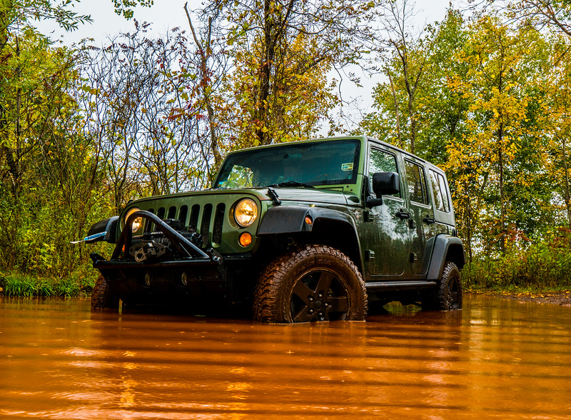 "Then went to this local ""jeep"" trails I knew about on the rainy day"