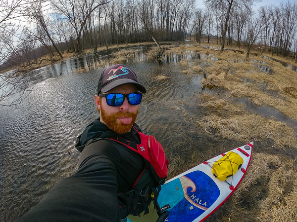 Paddling in areas I've never been able to before.