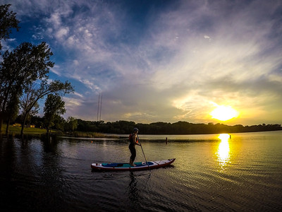 Little sunset paddle