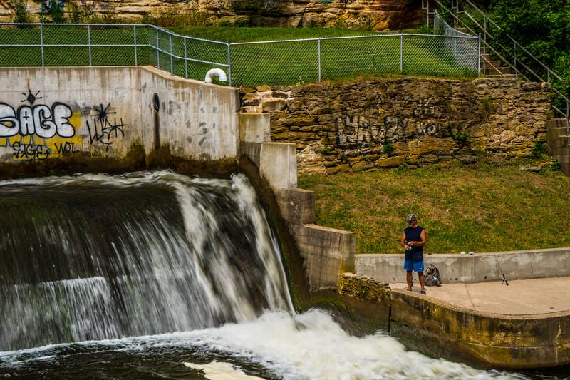 Fishing the dam