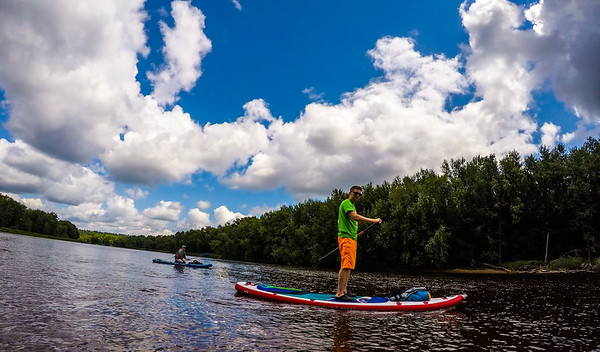 Detti's first time paddling Nala!