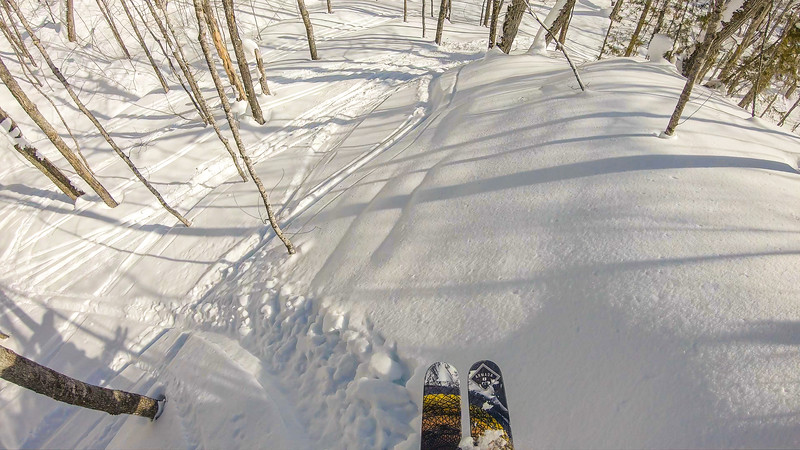 Aww not so much of a cliff, but still fresh tracks!
