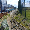 Looking back around first curve towards platform