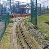 Looking back on curve of first bend back towards the Station