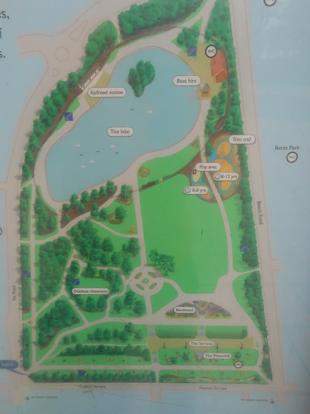 Map of the South Marine Park showing location of Railway