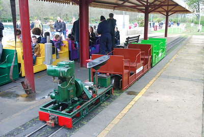 Shot of the two coach train we rode in behind the Lister loco