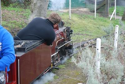 Adiela steam Loco departs the station