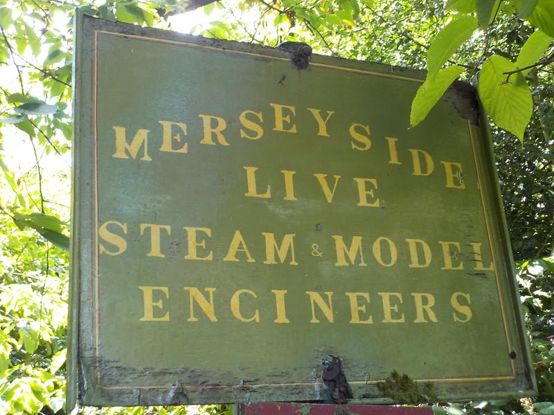 Sign for the Merseyside Model Engineers in Calderstones Park