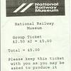 Ticket for NRM Mini Railway