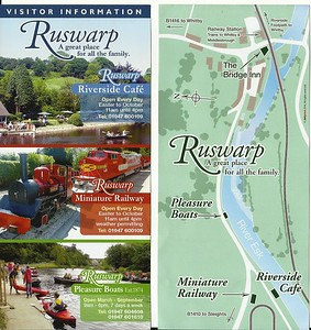 Leaflet for Ruswarp Mini railway   New to Smugmug??   To read the print clearly / make picture bigger :   Best way to read it if you new to Smugmug  Put your mouse pointer over centre of pic and   double click which blows it up.   Then in the Bottom RIGHT hand corner   there is a RESIZE BUTTON so select size you want.   To cancel and come back just click the big X in top right hand