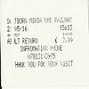 Ticket for the Train