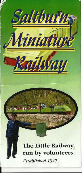 Saltburn Miniature Railway Info Leaflet pic 1 of 3