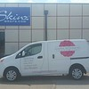 Nissan NV 200 with custom designed wrap for Apples to Zinnias, Dallas, TX