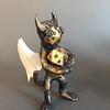 Winged Metal head Rpeggie -RPG 20 dice holder