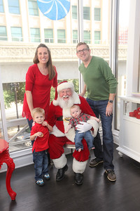 Hudson and Grayson meet Santa