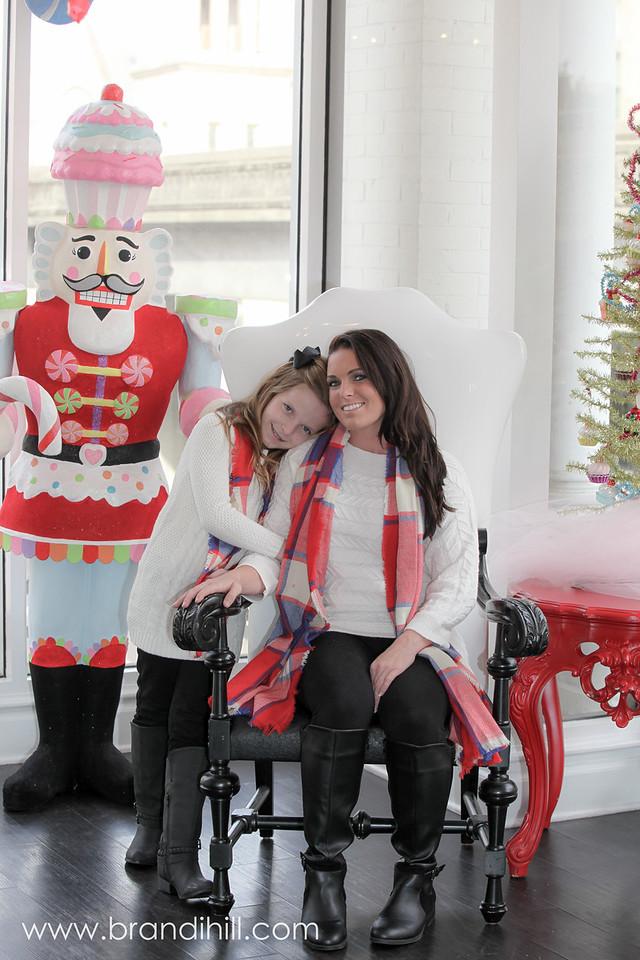 Keirstyn meets Santa