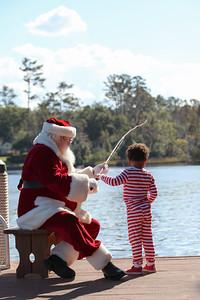Brock and Eli go fishing with Santa