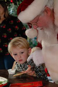 Charlie and Rose-Mary meet Santa