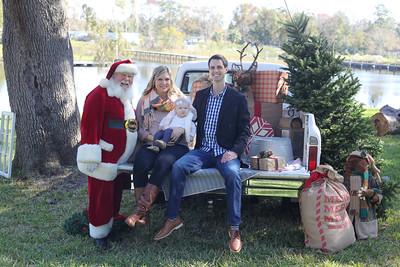 Baby Charlotte meets Santa
