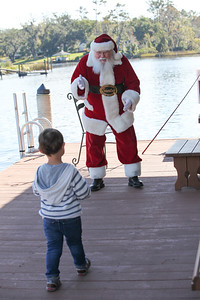 Welsey and Collins meet Santa
