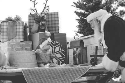 Hudson and Raelyn meet Santa