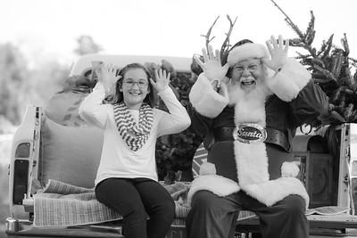 Lauren meets Santa