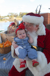 Baby Maelyn meets Santa