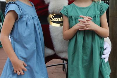 Santa meets Tessa and Abby