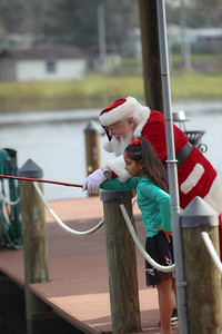Alek and Santa go Fishing