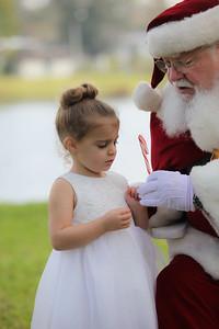 Celia meets Santa