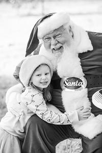 Drew meets Santa