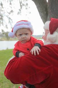 Liam meets Santa