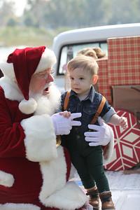 Lincoln chats with Santa