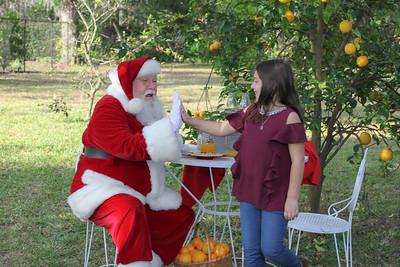 Makayla meets Santa!