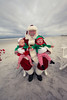 Alyssa, Max and Ava meet Santa