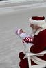Baby Riley meets Santa