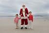 Caden and Benjamin meet Santa