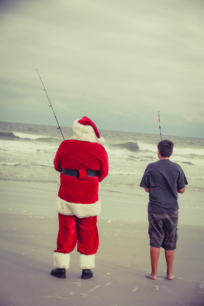 Fishing with Santa