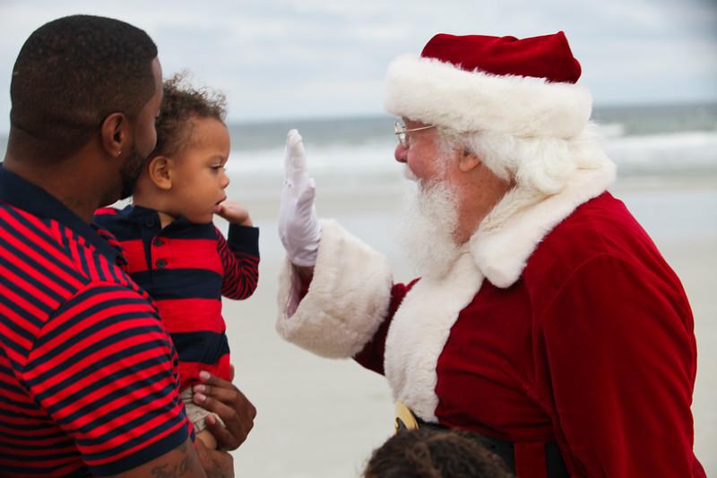 Riley and Brianna meet Santa