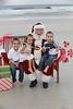 Caleb, Gianna and Liam meet Santa Clause!