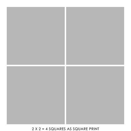 2 x 2 = 4 square print + $160