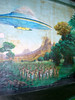 Murals on the inside portion of the Mount Atlanticus course