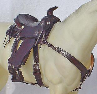 Miniature working western saddle