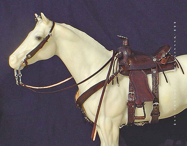 """Miniature """"barbed wire"""" working saddle- Full set"""